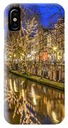 Utrecht Old Canal By Night IPhone Case