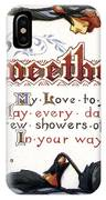 Valentines Day Card, 1910 IPhone Case