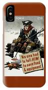 Valley Forge Soldier - Conservation Propaganda IPhone Case