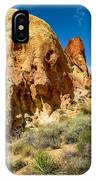 Valley Of Fire - Face In The Rock IPhone Case