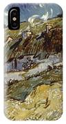 Van Gogh: Cottages, 1890 IPhone Case
