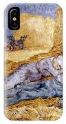 Van Gogh: Noon Nap, 1889-90 IPhone Case