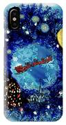 Van Gogh's Starry Night Wreath IPhone Case