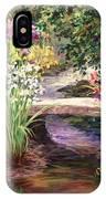 Vandusen Garden Iris Bridge IPhone Case