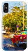 Vintage Cars In Varadero IPhone Case