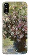 Vase Of Malva Flowers, 1880 IPhone Case