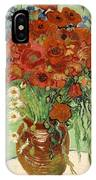 Vase With Daisies And Poppies IPhone X Case