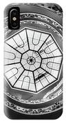 Vatican Staircase Looking Up Black And White IPhone Case