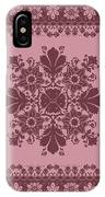 Vector Abstract Ethnic Shawl Floral Pattern Design For Backgroun IPhone Case