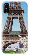 Eiffel Tower And Spring IPhone Case