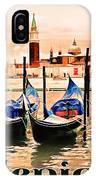 Venice, City Of Romance, Italy, Gondolas IPhone Case