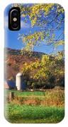 Vermont Farm In Autumn IPhone Case