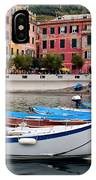 Vernazza Fishing Boats IPhone Case