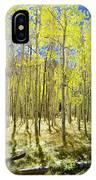 Vertical Aspen Forest IPhone Case