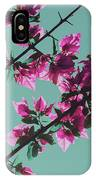 Vibrant Pink Flowers Bloom Floral Background IPhone Case