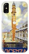 Vicenza Italy Travel Poster IPhone Case