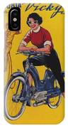 Victoria Vicky Iv - Motorcycle - Vintage Advertising Poster IPhone Case