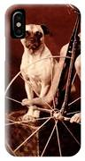 Victorian Boy With Pug Dog And Tricycle Circa 1900 IPhone Case