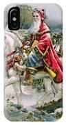 Victorian Christmas Card Depicting Saint Nicholas IPhone Case
