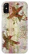 Victorian Humming Bird Pink IPhone Case