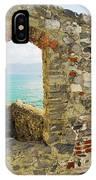 View From Doria Castle In Portovenere Italy IPhone Case