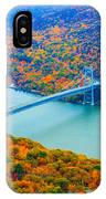 View From Top Of Bear Mountain Of Bear Mountain Bridge IPhone Case