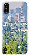View From Wealthy Neighborhood In Hills Of Santiago-chile IPhone Case