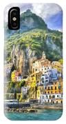 View Of Amalfi IPhone Case