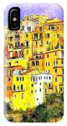 View Of Corniglia - Cinque Terre IPhone Case