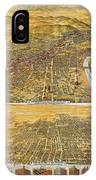 View Of Los Angeles, 1894 IPhone Case