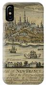 View Of Quebec City 1759 IPhone Case