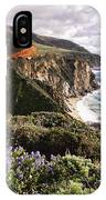 View Of The Bixby Creek Bridge Big Sur California IPhone Case