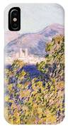 View Of The Cap Dantibes With The Mistral Blowing IPhone Case