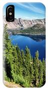 View Of Wizard Island Crater Lake IPhone Case