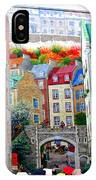 Viewing A Mural At La Fresque Des Quebecois IPhone Case
