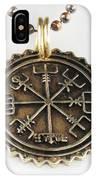 Viking Bronze Vegvisir Pendant IPhone Case