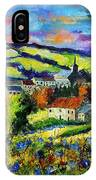 Village And Blue Poppies  IPhone Case