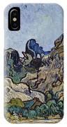 Vincent Van Gogh  Mountains At Saint Remy IPhone Case