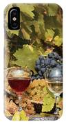 Vineyard With Red And White Wine Autumn Season IPhone Case