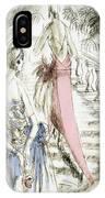 Vintage 1920s Fashion Plate  Evening Dresses IPhone Case