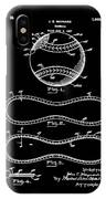 Vintage 1928 Baseball Patent Black IPhone Case