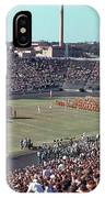 Vintage 1955 Photo Of Us Military Color Guard With Big Bertha Dr IPhone Case