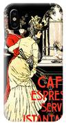 Vintage Antique Italian Coffeehouse Advertising IPhone Case