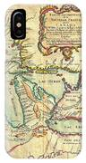 Vintage Antique Map Of The Great Lakes IPhone Case