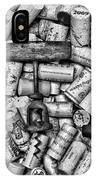Vintage Barrel Taps And Cork Screw Black And White IPhone Case