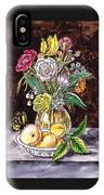 Vintage Bouquet With Fruits And Butterfly  IPhone Case