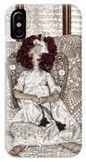 Vintage Button Angel Doll On Crocheted Spread IPhone Case