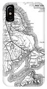 Vintage Cape Cod Old Colony Railroad Map IPhone Case