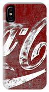 Coca Cola Red And White Sign Gray Border With Transparent Background IPhone Case