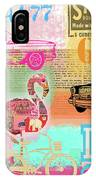 Vintage Collage Flamingo IPhone Case